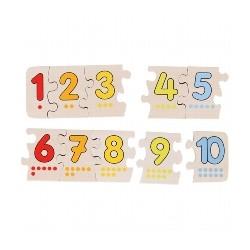 Puzzle de chiffres en bois