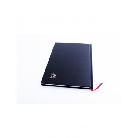 Cahier Tadris Luxe similicuir noir (rigide)
