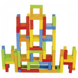 Jeu d'équilibre en bois : Les chaises